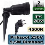 Tuinspot LED Dimbaar 230V 5,5W 4500K