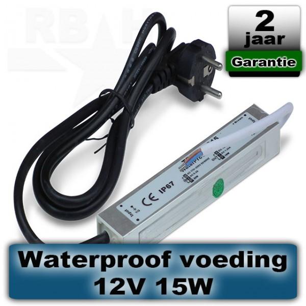 12V voeding voor grondspot / prikspot 15W waterproof
