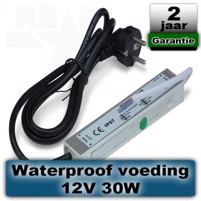 12V voeding voor grondspot / prikspot 30W waterproof