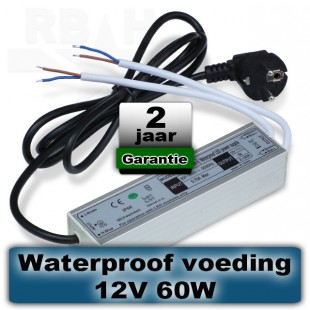 12V voeding voor grondspot / prikspot 60W waterproof