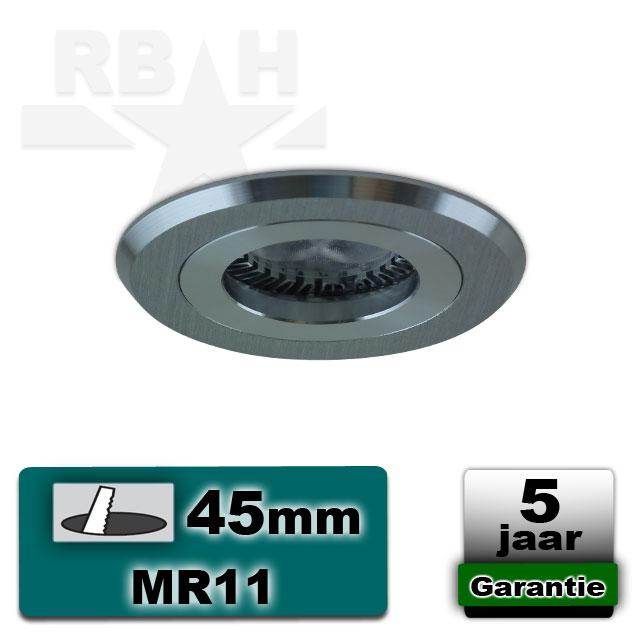 Merbau Parket In Badkamer ~ Inbouwspot  armatuur MR11 geborsteld aluminium